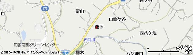 愛知県南知多町(知多郡)内海(池下)周辺の地図