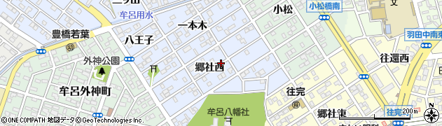 愛知県豊橋市牟呂町(郷社西)周辺の地図