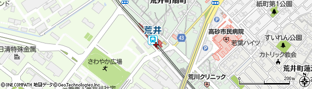 兵庫県高砂市周辺の地図