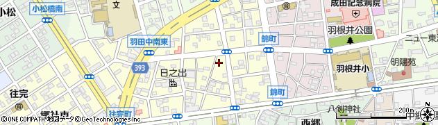 愛知県豊橋市錦町周辺の地図