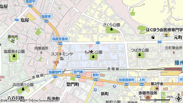 〒678-0205 兵庫県赤穂市大町の地図