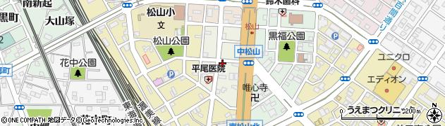 愛知県豊橋市中松山町周辺の地図