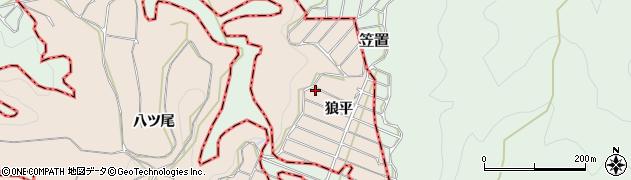 京都府木津川市加茂町山田(狼平)周辺の地図