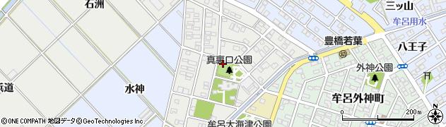 愛知県豊橋市牟呂水神町周辺の地図