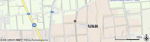 静岡県磐田市匂坂新周辺の地図