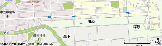 愛知県豊橋市多米町(川添)周辺の地図