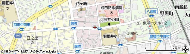 愛知県豊橋市羽根井本町周辺の地図
