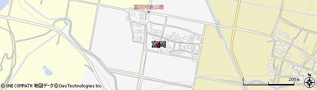三重県伊賀市富岡周辺の地図