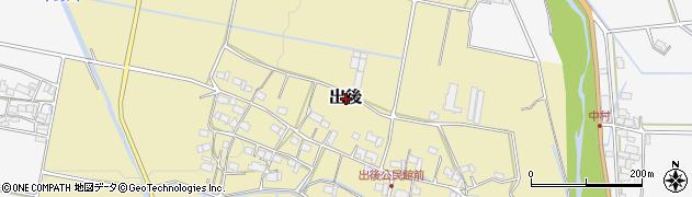 三重県伊賀市出後周辺の地図