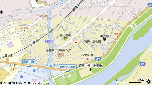 〒678-0176 兵庫県赤穂市南野中の地図