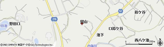 愛知県南知多町(知多郡)内海(留山)周辺の地図