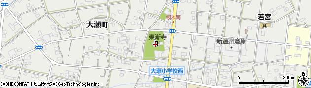 東漸寺周辺の地図