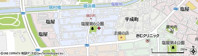 兵庫県赤穂市磯浜町周辺の地図