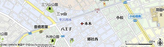 愛知県豊橋市牟呂町(一本木)周辺の地図