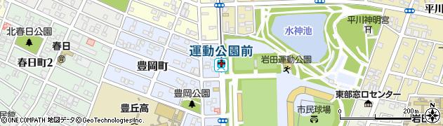 愛知県豊橋市周辺の地図