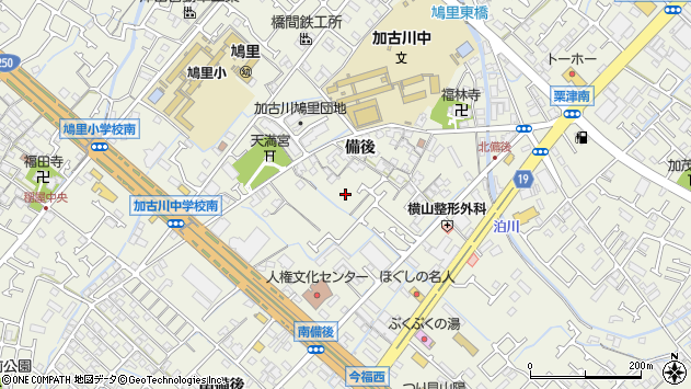 〒675-0032 兵庫県加古川市加古川町備後の地図