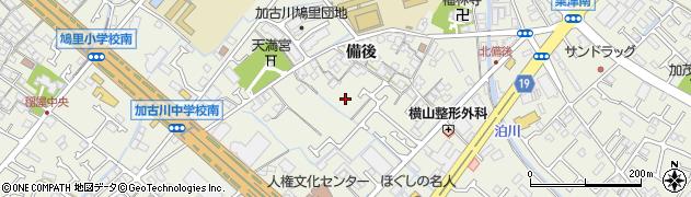 兵庫県加古川市加古川町(備後)周辺の地図