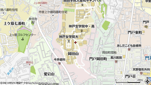 〒662-0827 兵庫県西宮市岡田山の地図