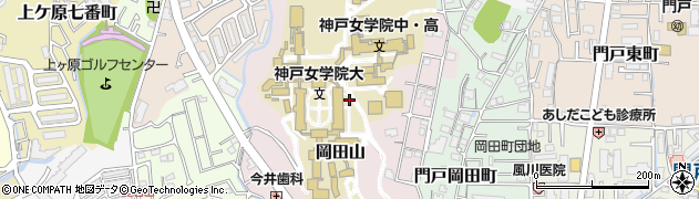 兵庫県西宮市岡田山周辺の地図