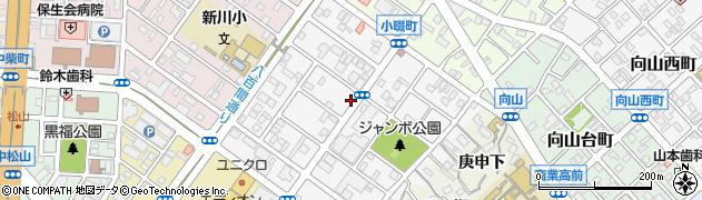 愛知県豊橋市小畷町周辺の地図