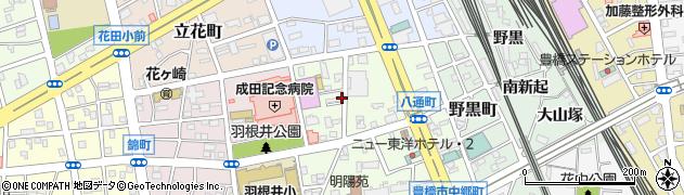 愛知県豊橋市八通町周辺の地図