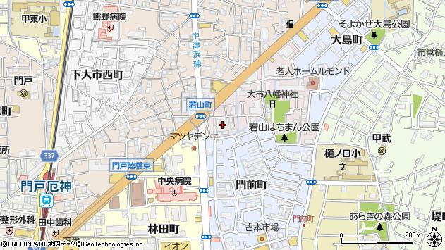 〒663-8016 兵庫県西宮市若山町の地図