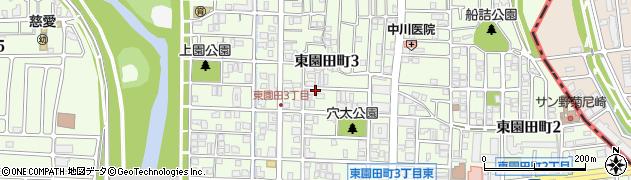 兵庫県尼崎市東園田町3丁目周辺の地図