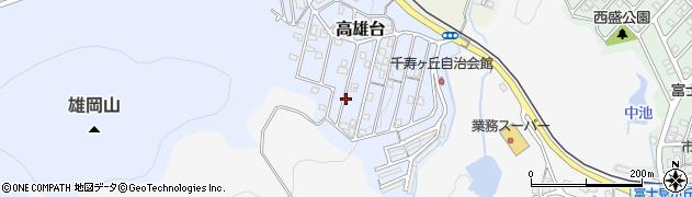 兵庫県神戸市西区高雄台周辺の地図