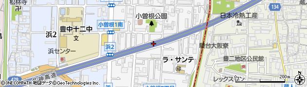 大阪府豊中市小曽根周辺の地図