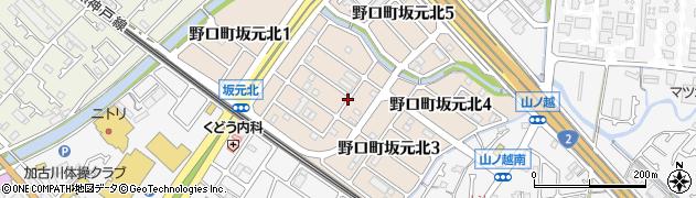 兵庫県加古川市野口町坂元北周辺の地図