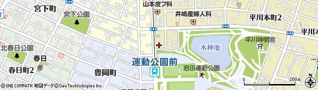 本家かまどや 市民球場前店周辺の地図