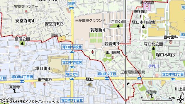 〒664-0863 兵庫県伊丹市柏木町の地図