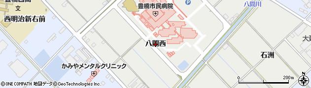 愛知県豊橋市青竹町(八間西)周辺の地図