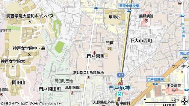 〒662-0824 兵庫県西宮市門戸東町の地図