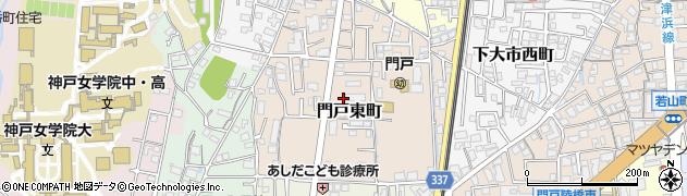 兵庫県西宮市門戸東町周辺の地図