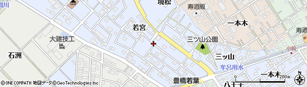 愛知県豊橋市牟呂町周辺の地図