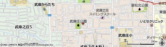 兵庫県尼崎市武庫之荘本町2丁目周辺の地図