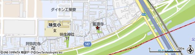 誓源寺周辺の地図