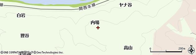 京都府木津川市加茂町北(内場)周辺の地図