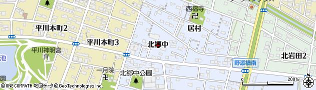 愛知県豊橋市岩田町(北郷中)周辺の地図