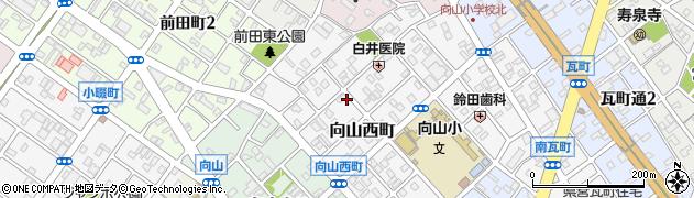 愛知県豊橋市向山西町周辺の地図