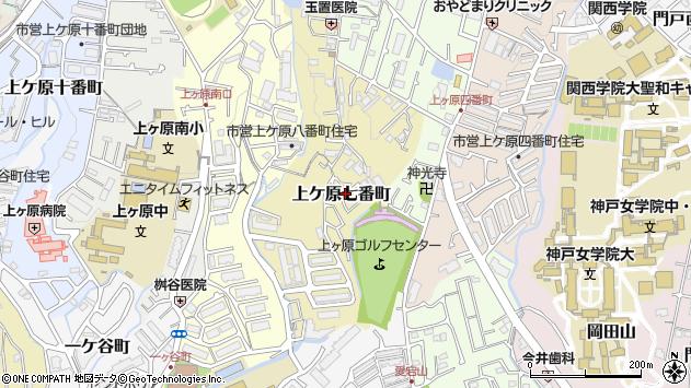 〒662-0881 兵庫県西宮市上ケ原七番町の地図