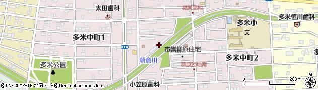 柳原団地周辺の地図