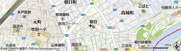 大阪府吹田市高浜町周辺の地図