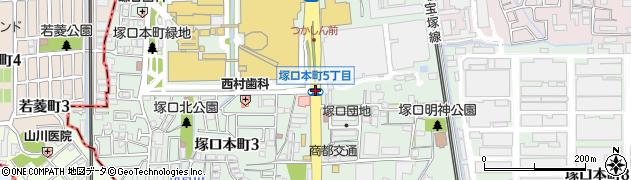 塚口本町5周辺の地図