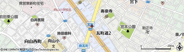 愛知県豊橋市瓦町通周辺の地図