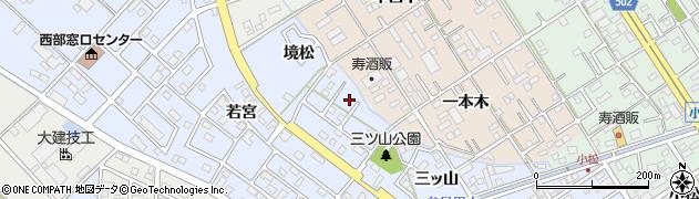 愛知県豊橋市牟呂町(境松)周辺の地図