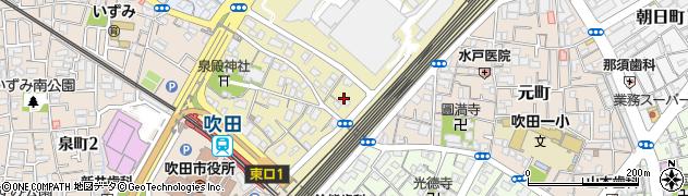 大阪府吹田市西の庄町周辺の地図