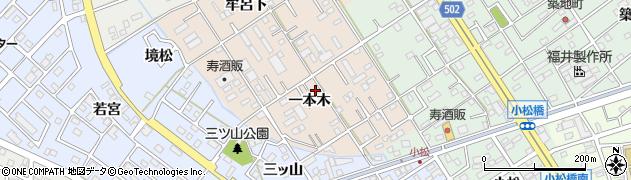 愛知県豊橋市新栄町(一本木)周辺の地図