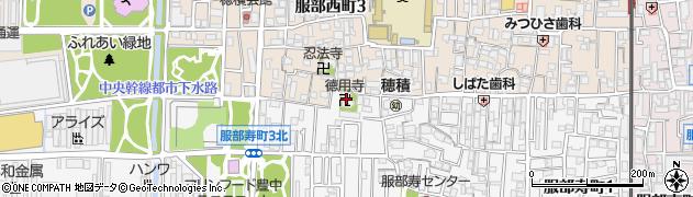 徳用寺周辺の地図